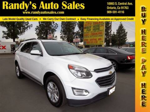 2016 Chevrolet Equinox for sale at Randy's Auto Sales in Ontario CA