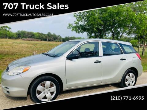 2003 Toyota Matrix for sale at 707 Truck Sales in San Antonio TX
