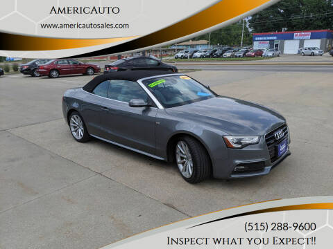 2015 Audi A5 for sale at AmericAuto in Des Moines IA