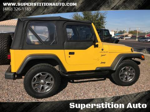 2002 Jeep Wrangler for sale at Superstition Auto in Mesa AZ