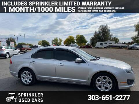 2011 Ford Fusion for sale at Sprinkler Used Cars in Longmont CO