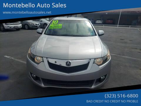 2010 Acura TSX for sale at Montebello Auto Sales in Montebello CA