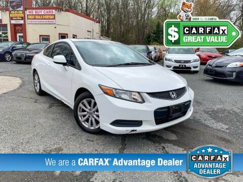 2012 Honda Civic for sale at High Rated Auto Company in Abingdon MD