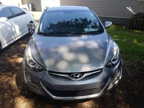 2015 Hyundai Elantra for sale at Webb's Automotive Inc 11 in Morehead City NC