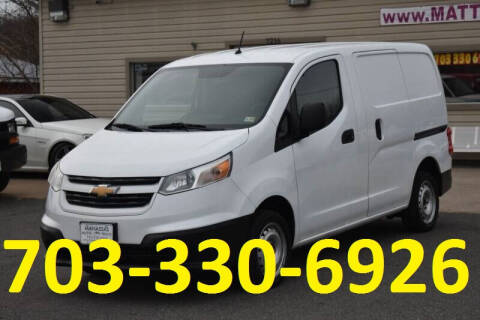 2015 Chevrolet City Express Cargo for sale at MANASSAS AUTO TRUCK in Manassas VA