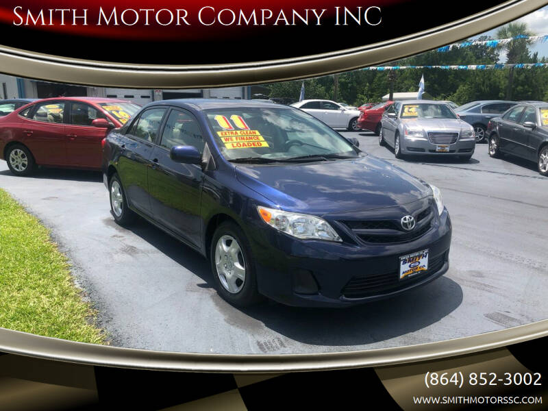 2011 Toyota Corolla for sale at Smith Motor Company INC in Mc Cormick SC