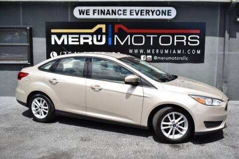 2018 Ford Focus for sale at Meru Motors in Hollywood FL