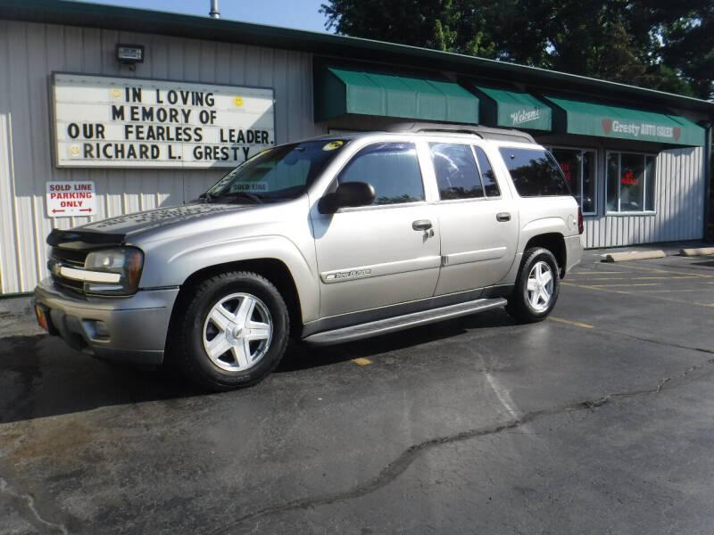 2003 Chevrolet TrailBlazer for sale at GRESTY AUTO SALES in Loves Park IL