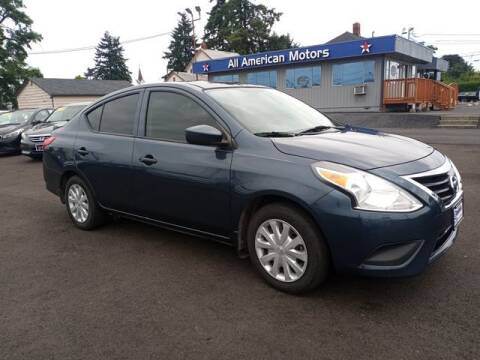 2017 Nissan Versa for sale at All American Motors in Tacoma WA