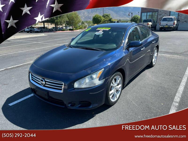 2012 Nissan Maxima for sale at Freedom Auto Sales in Albuquerque NM
