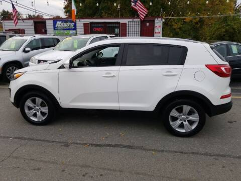 2012 Kia Sportage for sale at Howe's Auto Sales in Lowell MA