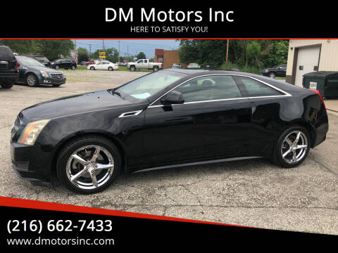2011 Cadillac CTS for sale at DM Motors Inc in Maple Heights OH