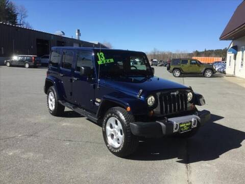 2013 Jeep Wrangler Unlimited for sale at SHAKER VALLEY AUTO SALES in Enfield NH