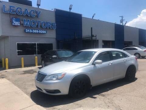 2012 Chrysler 200 for sale at Legacy Motors in Detroit MI