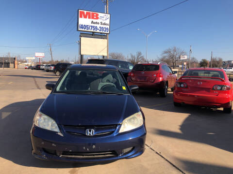 2004 Honda Civic for sale at MB Auto Sales in Oklahoma City OK
