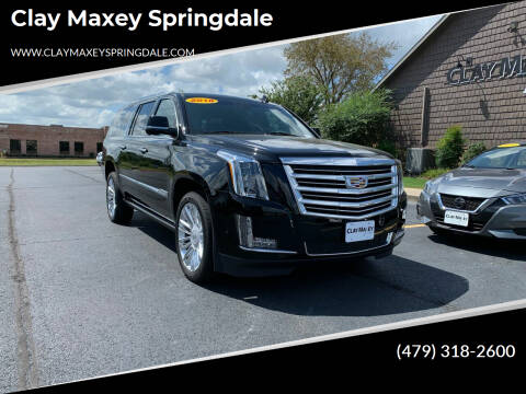 2018 Cadillac Escalade ESV for sale at Clay Maxey Springdale in Springdale AR