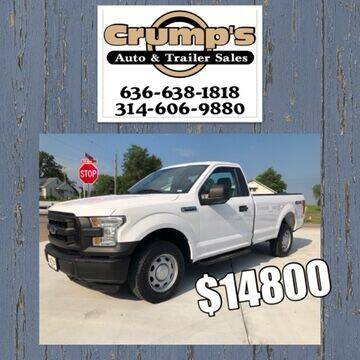 2016 Ford F-150 for sale at CRUMP'S AUTO & TRAILER SALES in Crystal City MO