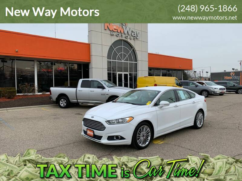 2014 Ford Fusion for sale at New Way Motors in Ferndale MI