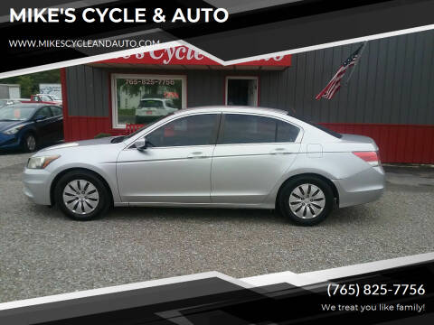 2012 Honda Accord for sale at MIKE'S CYCLE & AUTO in Connersville IN