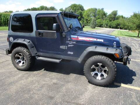 2000 Jeep Wrangler for sale at Crossroads Used Cars Inc. in Tremont IL