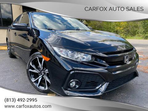 2018 Honda Civic for sale at Carfox Auto Sales in Tampa FL