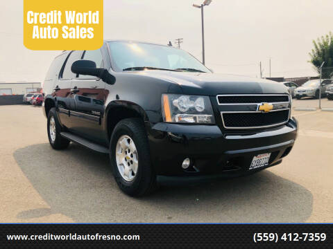 2012 Chevrolet Tahoe for sale at Credit World Auto Sales in Fresno CA