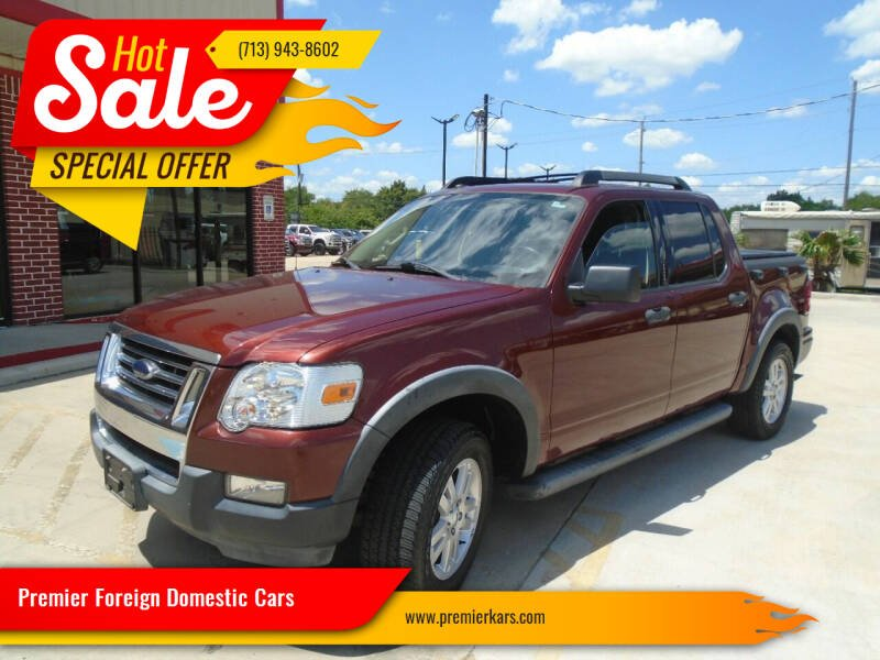 2010 Ford Explorer Sport Trac for sale at Premier Foreign Domestic Cars in Houston TX