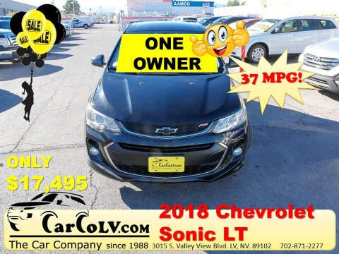 2018 Chevrolet Sonic for sale at The Car Company in Las Vegas NV