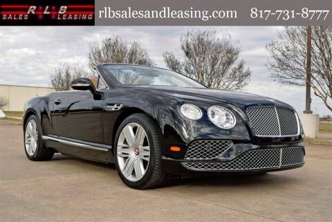 2016 Bentley Continental for sale at RLB Sales and Leasing in Fort Worth TX