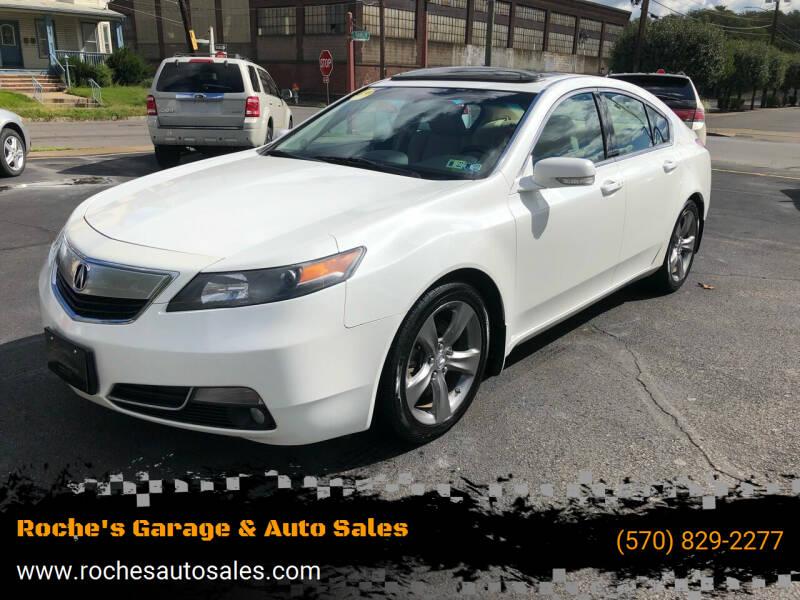 2012 Acura TL for sale at Roche's Garage & Auto Sales in Wilkes-Barre PA