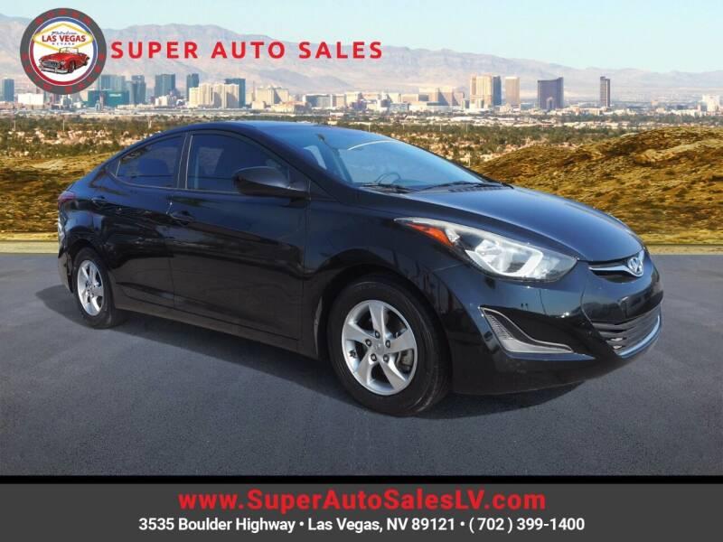 2015 Hyundai Elantra for sale at Super Auto Sales in Las Vegas NV