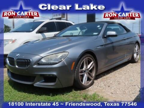 2013 BMW 6 Series for sale at Ron Carter  Clear Lake Used Cars in Houston TX
