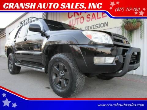 2004 Toyota 4Runner for sale at CRANSH AUTO SALES, INC in Arlington TX