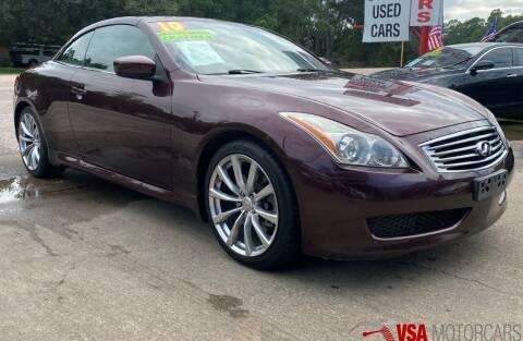 2010 Infiniti G37 Convertible for sale at VSA MotorCars in Cypress TX