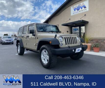 2017 Jeep Wrangler Unlimited for sale at Western Mountain Bus & Auto Sales in Nampa ID