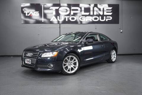 2012 Audi A5 for sale at TOPLINE AUTO GROUP in Kent WA