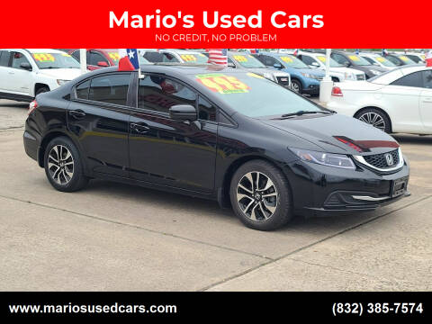 2014 Honda Civic for sale at Mario's Used Cars in Houston TX