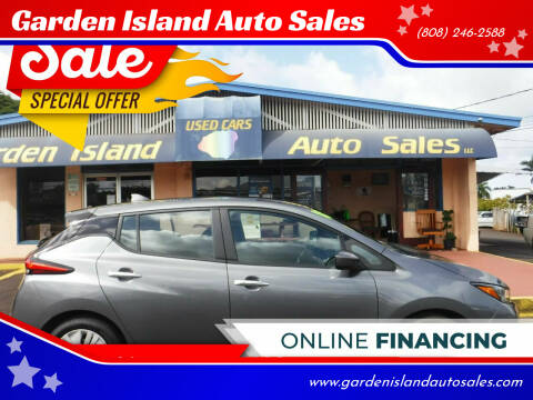 2019 Nissan LEAF for sale at Garden Island Auto Sales in Lihue HI