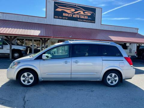 2009 Nissan Quest for sale at Ridley Auto Sales, Inc. in White Pine TN
