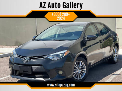 2014 Toyota Corolla for sale at AZ Auto Gallery in Mesa AZ