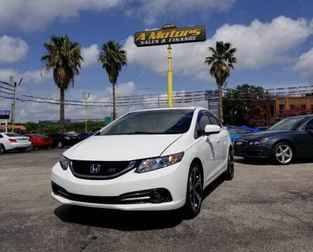 2015 Honda Civic for sale at A MOTORS SALES AND FINANCE in San Antonio TX