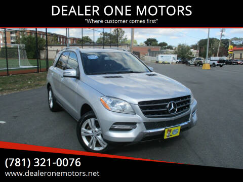 2013 Mercedes-Benz M-Class for sale at DEALER ONE MOTORS in Malden MA