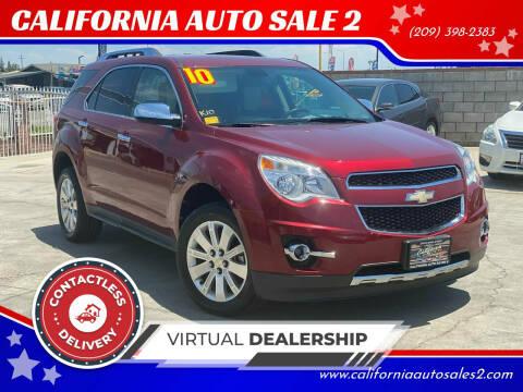 2010 Chevrolet Equinox for sale at CALIFORNIA AUTO SALE 2 in Livingston CA
