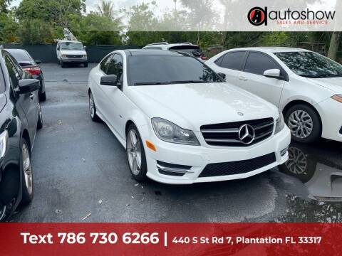 2014 Mercedes-Benz C-Class for sale at AUTOSHOW SALES & SERVICE in Plantation FL