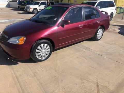 2003 Honda Civic for sale at D & M Vehicle LLC in Oklahoma City OK