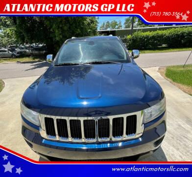 2012 Jeep Grand Cherokee for sale at ATLANTIC MOTORS GP LLC in Houston TX