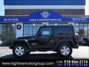 2014 Jeep Wrangler for sale at Highline Group Motorsports in Lowell MA