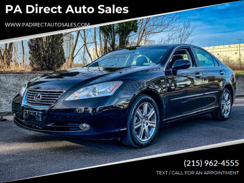 2008 Lexus ES 350 for sale at PA Direct Auto Sales in Levittown PA
