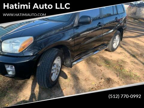 2002 Toyota RAV4 for sale at Hatimi Auto LLC in Buda TX