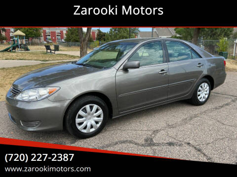 2005 Toyota Camry for sale at Zarooki Motors in Englewood CO